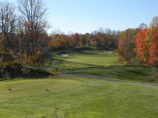 A fall view from the 4th tee at Timbers at Troy.