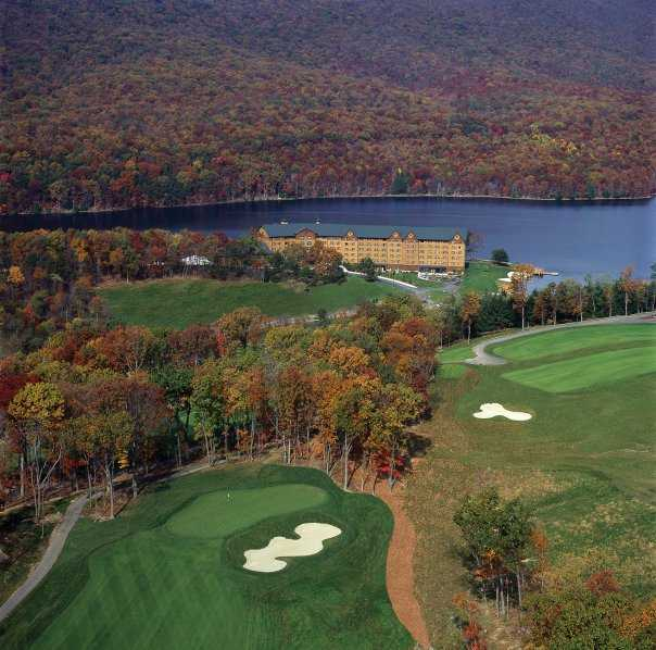 Aerial view from Rocky Gap Casino Resort