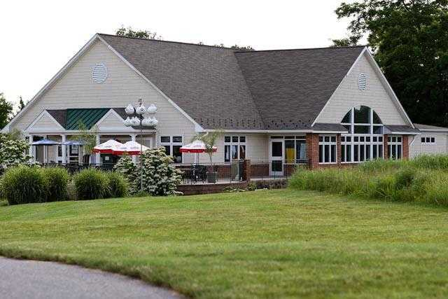 A view of the clubhouse at Hampshire Greens Golf Course
