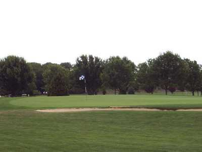 A view of the 16th green at Cherry Creek Golf - The Links Course