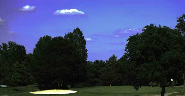 A view of green #2 at Nashboro Golf Club