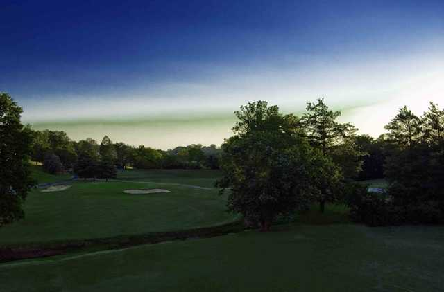 A view of the 14th green at Nashboro Golf Club