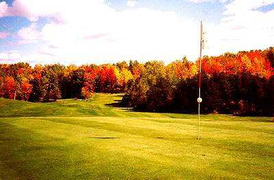 A view  of hole #12 at Pinewood Country Club