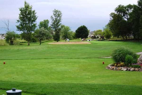 A view from the 8th hole at 	Muskego Lakes Country Club