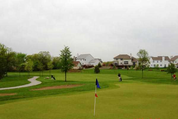 A view of green #6 at 	Muskego Lakes Country Club