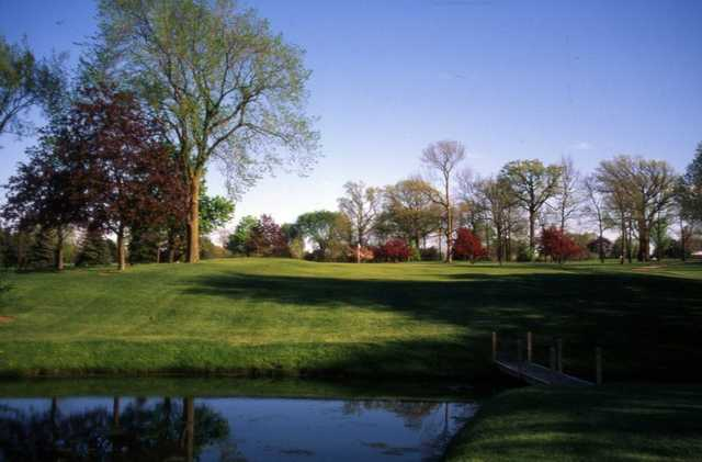 A view of the 11th hole at Meadowbrook Country Club