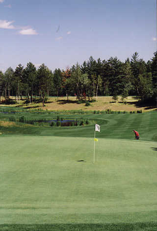 A view of the signature hole #5 at St. Germain Golf Club