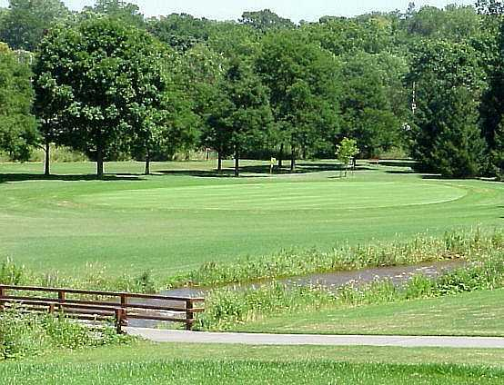 A view of the 16th green at Currie Park Golf Course