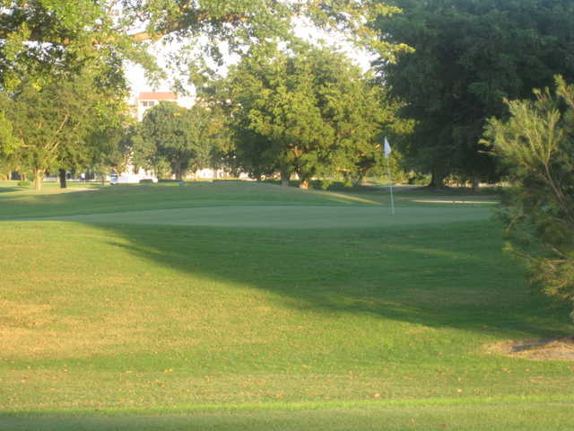 A view of a green at Marina Lake Golf Course