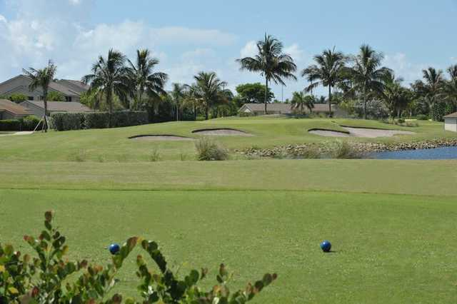 A view from tee at Jupiter Dunes Golf Course