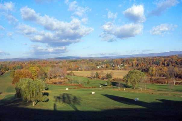A view of the driving range at Rondout Golf Club