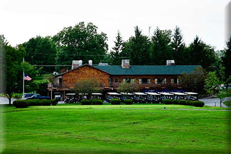 A view of the clubhouse at Batavia Country Club