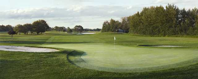 A view of green #9 at Marine Park Golf Course