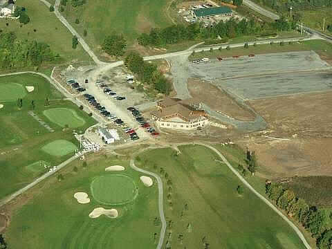 Aerial view of the clubhouse at Lima Golf & Country Club