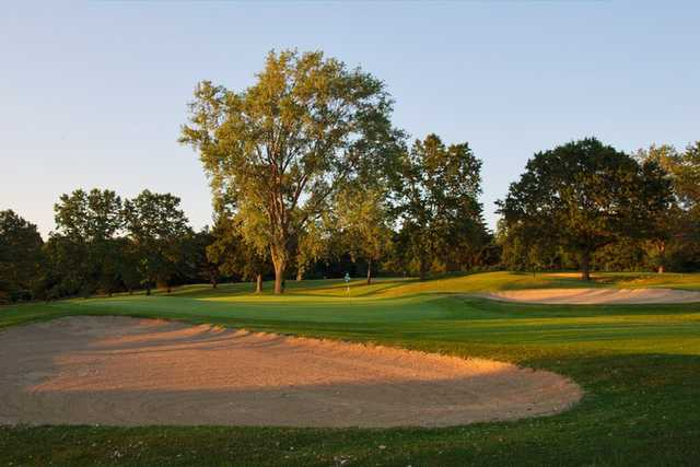 A view of the 10th green at Putnam County Golf Course