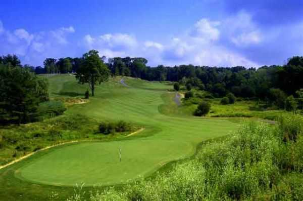 A view of the 2nd hole at Hudson Hills Golf Course