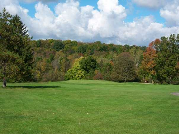A view of the 5th green at Wild Wood Country Club
