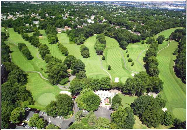Aerial view from Silver Lake Golf Course