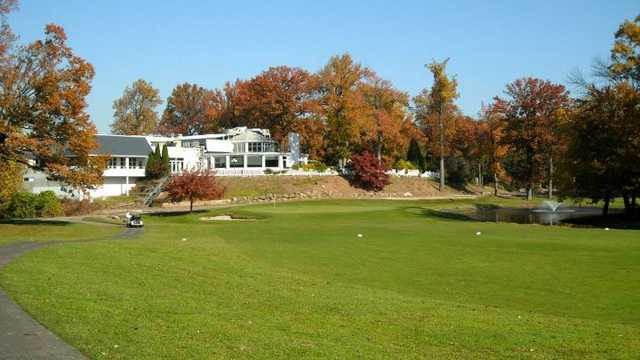 A view of the clubhouse at South Shore Golf Course
