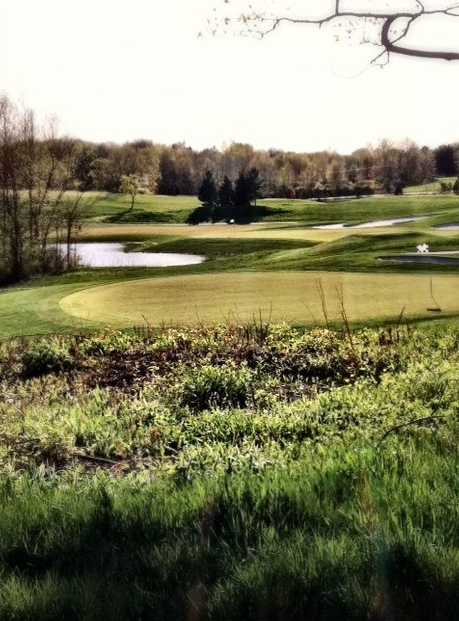 A view of green #14 at Ravenwood Golf Course