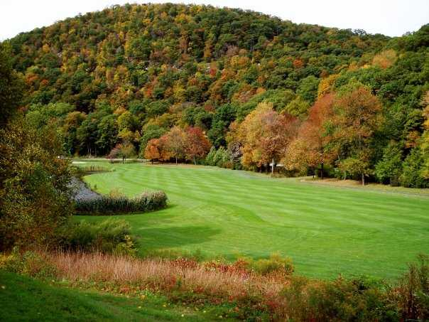 A view of fairway #8 at West Point Golf Course