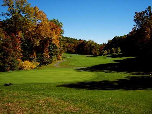 A view of green #10 at West Point Golf Course
