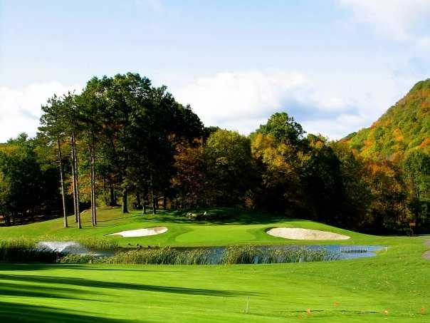 A view of the 7th hole at West Point Golf Course