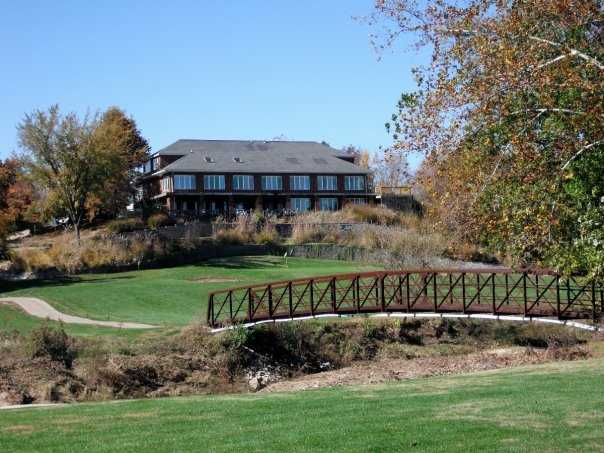 A view of the clubhouse at Woodlands Golf Club