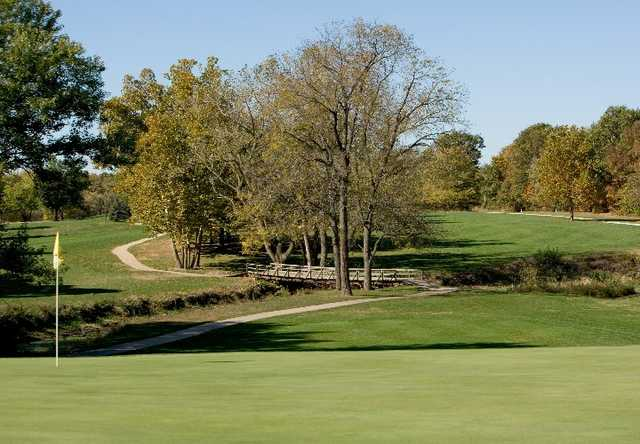 A view of the 16th hole at Edgewood Golf Club