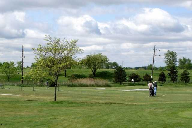 A view of the driving range at Meadows Golf Club of Blue Island