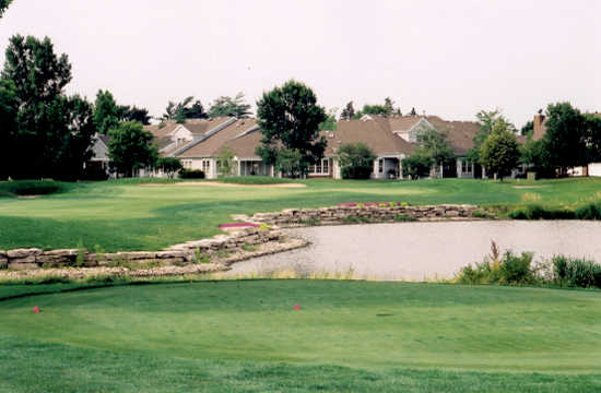 A view of the clubhouse at Arboretum Golf Club.