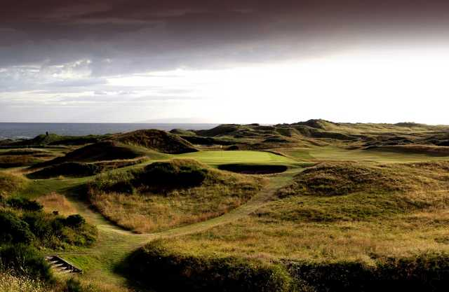 The No.8 ('Postage Stamp') on the Old Course at Royal Troon Golf Club