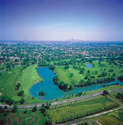 Aerial view from Marquette Park Golf Course