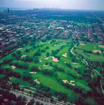 Aerial view from Robert A. Black Golf Club