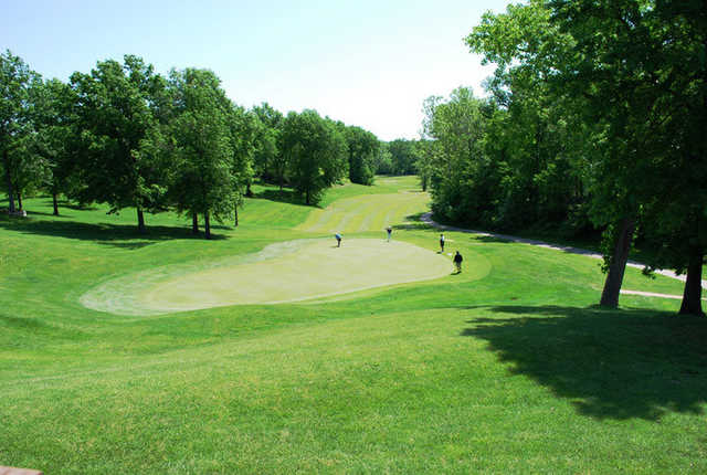 A view of the 9th hole at Fox Creek Golf Club