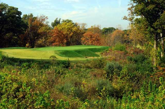 A fall view of green at Stonewolf Golf Club