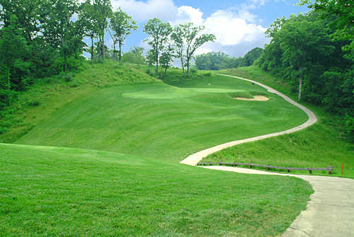 A view of the 1st hole at Stonewolf Golf Club
