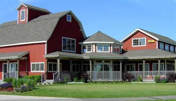 A view of the clubhouse at Tanna Farms Golf Club.