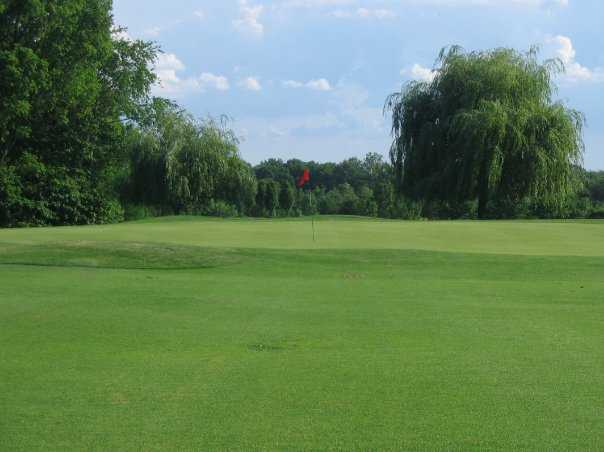 A view of hole #5 from fairway at Championship Course from Rolling Hills Golf Club