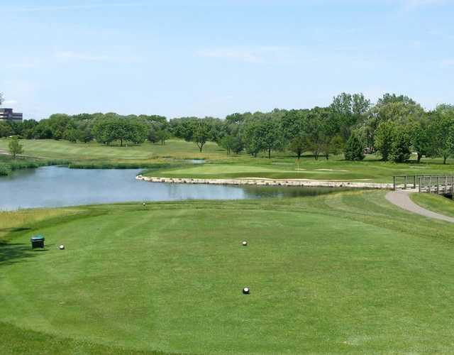 A view from the 8th tee at Bridges of Poplar Creek Country Club