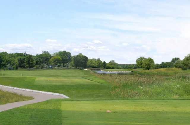 A view from tee #11 at Bridges of Poplar Creek Country Club