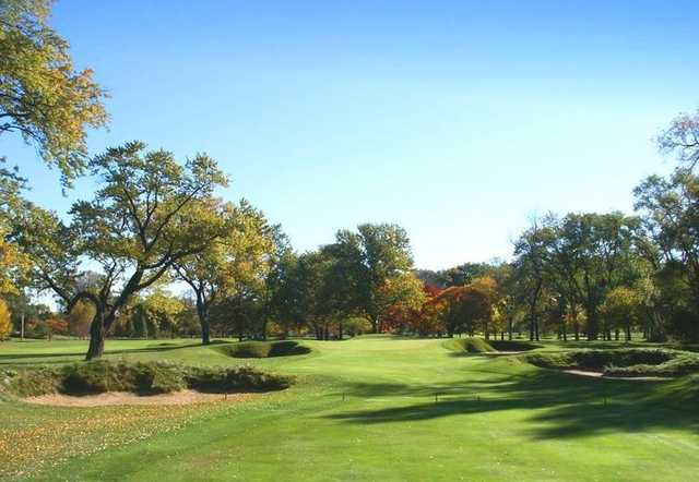 A view of the 4th hole at Ravisloe Country Club