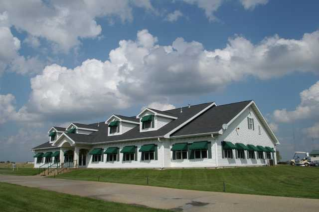 A view of the clubhouse at Gateway National Golf Links