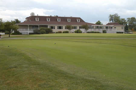 A view of the clubhouse at Sanctuary Golf Club