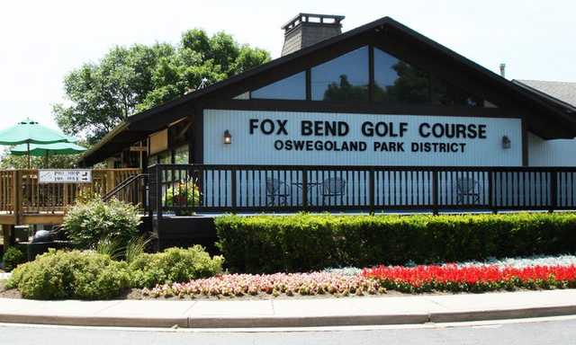 A view of the clubhouse at Fox Bend Golf Course.