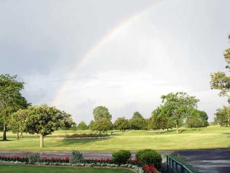 A rainbow view from Deer Creek Golf Club