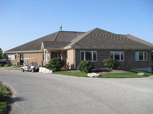 A view of the clubhouse at Annbriar Golf Course