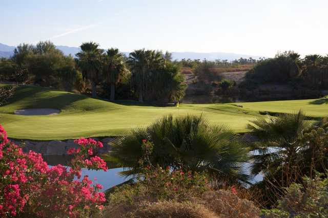 A view of hole #6 at Mountain View Course from Desert Willow Golf Resort