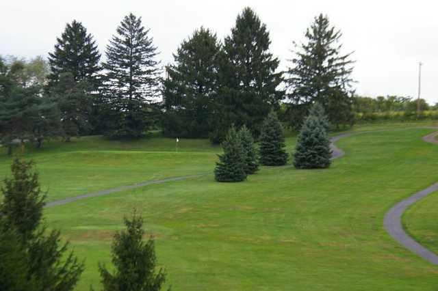 A view of the 13th hole at Rolling Pines Golf Course