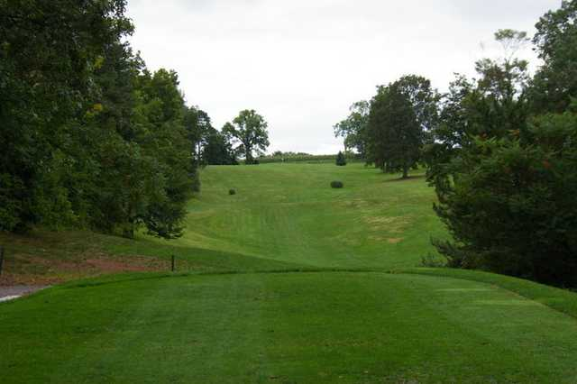 A view from tee #16 at Rolling Pines Golf Course